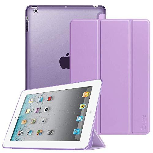 FINTIE iPad 2/3 / 4 Cover - Ultra Sottile del Basamento Leggero Semi-Trasparente Custodia Smart Case Cover con Auto Sveglia/Funzione per Apple iPad 2 / iPad 3 / iPad 4 Retina, Viola Chiaro