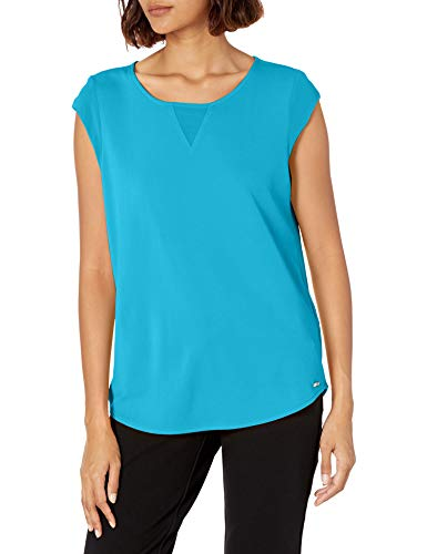 Calvin Klein Damen Sleeveless Hemd, Ocean, Klein