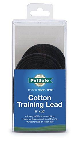 PetSafe Cotton Training Lead, 5/8' x 20', Black, Model:CTLD-5/8-X-20
