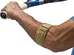 Cho-Pat Tennis Elbow Support Strap, Comfortable, Adjustable, Targeted Forearm Support (Medium, 10.5