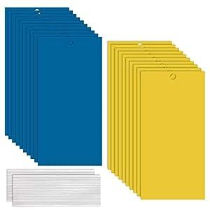 GiantGo 40 Piezas Trampas de Insectos de Doble Cara - Trampas Adhesivas de Doble Cara - Atrapa Insectos para Moscas, Insectos, Piojos, Atrapa, Polillas, Áfidos, 40 Piezas 1 Talla 2 Colores