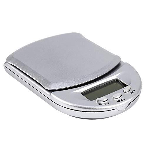 Elektronische zakweegschaal, nauwkeurig en betrouwbaar, compact en lichtgewicht, mini digitale multifunctionele elektronische zak draagbare weegschaal 0,1 g/500 g verlicht scherm