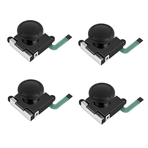 EEEKit 4er-Pack 3D Ersatz Links/Rechts Analog Joystick Thumbsticks,Joystick Thumbsticks Sensor Flexkabel für Nintendo Switch Joy-Con Controller
