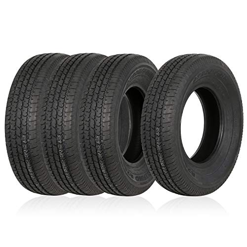 Weize Set of 4 ST205/75R14 Radial Trailer Tire, 8 Ply Load Range D