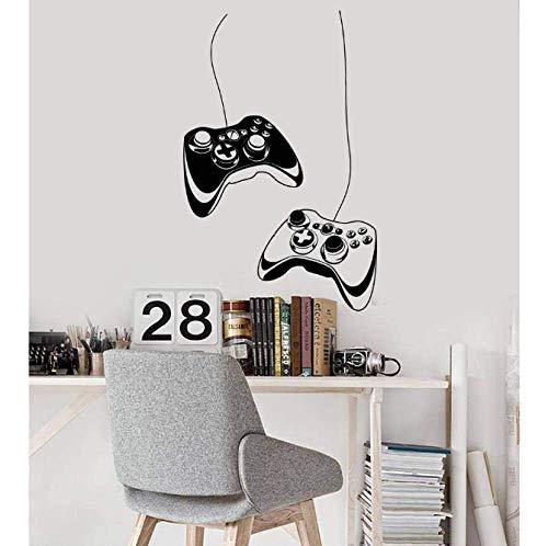 Pegatinas de pared Vinilo Tatuajes de pared Dos Joysticks Videojuegos Sala de juegos Cool Art Stickers Mural Ps4 Juego Calcomanías Dormitorio Decoración del hogar 27X42 cm