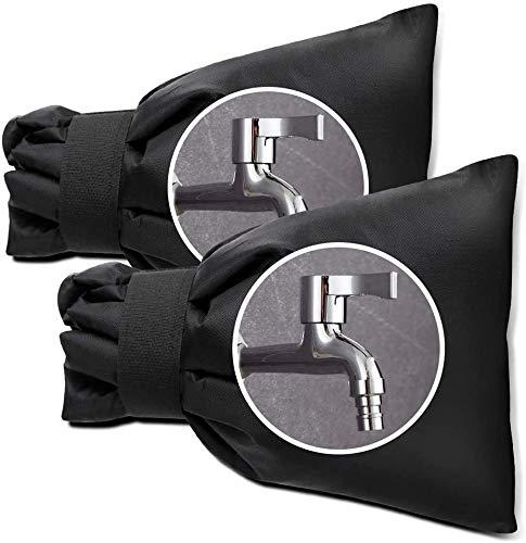 vok Las calas aisladas para grifos están diseñadas para proteger tus grifos exteriores de congelación y explosión. Evita que la escarcha penetre en tu grifo exterior (2 unidades).