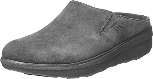 FitFlop Loaff Suede Clogs Grey 9 M (B)