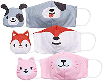 3-Pack Cubcoats 2 in 1 Kids Mask