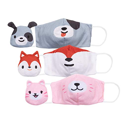 Cubcoats Kids Mask Buddies (3-Pack): 2-in-1 Kids Face Masks That Transform into...