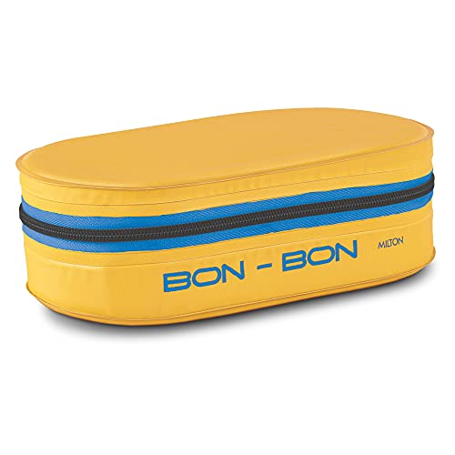 Milton New Bon Bon Lunch Box with 2 Leak-Proof containers, 280 ml Each, Yellow