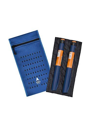 Dia-Cool, estuche isotermico para 2 plumas de insulina - Bolsa termica para diabeticos - Refrigeración evaporativa ecológica para medicamentos - Accesorio de viaje reutilizable para diabéticos.