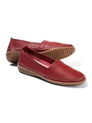 Walbusch Damen Koffer Slipper einfarbig rot 40