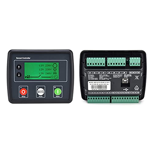 Panel del Módulo De Control del Generador, Verificación De Fallas Preestablecidas del Controlador del Grupo Electrógeno para Motor EFI para Detección De Red Trifásica
