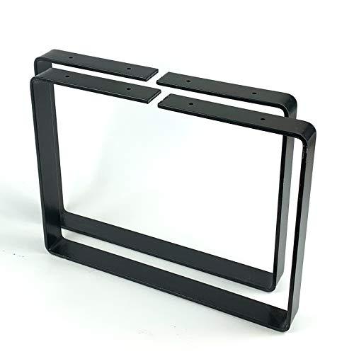 2X Bench Set Legs Industrial Designer Metal Steel Bench/Coffee Table/Side Table BL003 (35H x 35W cm (13,7x13,7'), Black)