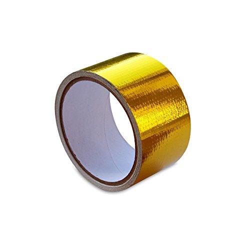 "Mishimoto - MMGRT-215 Heat Defense Heat Protective Tape - 2"" x 15' Roll Metallic Gold"
