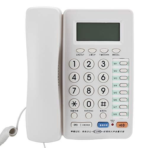 Dilwe Teléfono con Cable, teléfono de Escritorio, teléfonos fijos de Oficina, teléfono Fijo Independiente de Tipo Asiento, teléfono Multifuncional para la Oficina del Hotel en el hogar
