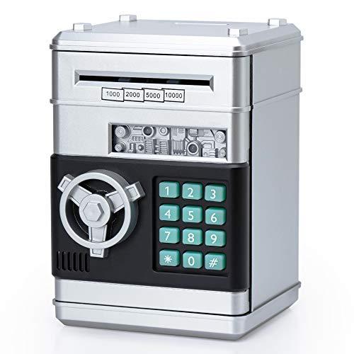 α+(アルファプラス) おもしろ貯金箱 ちょきんばこ 小銭 札 500円玉対応 鍵 暗証番号付き 小型金庫 こどもへのプレゼント atmや自動販売機のように 大人向けおしゃれインテリアにも【安心のメーカー保証付き】