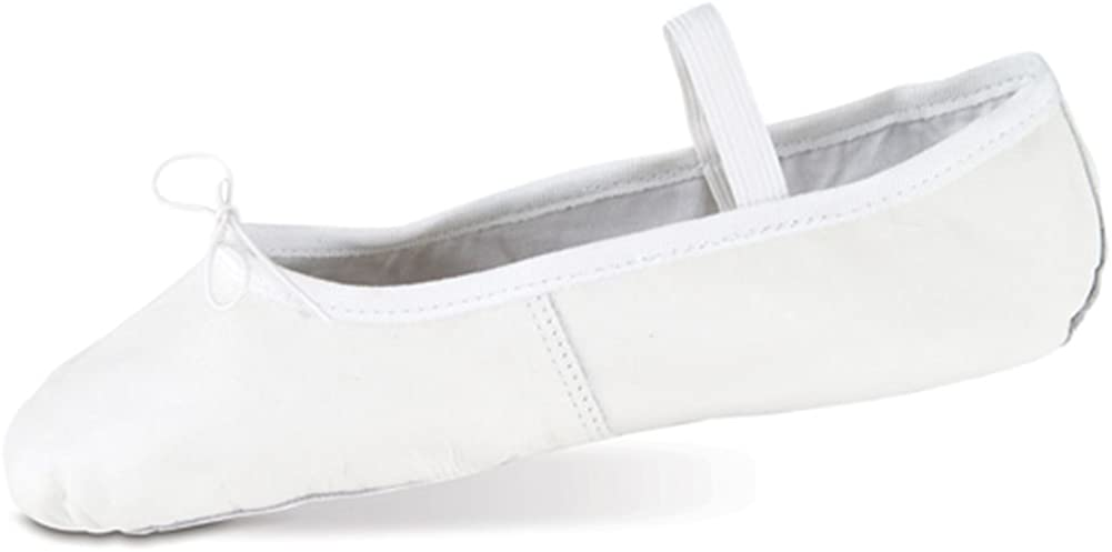 Danshuz Toddler Girls White Deluxe Leather Ballet Shoes Size 7