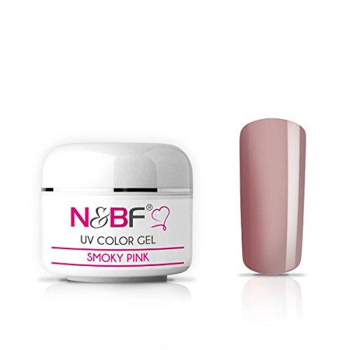 N&BF UV Farbgel 5 ml | Smoky Pink (Rosa) | Colourgel deckend mittelviskos | Color Gel für Gelnägel | Made in EU | Farbgele für Nageldesign und Nailart | selbstglättend + ohne Säure