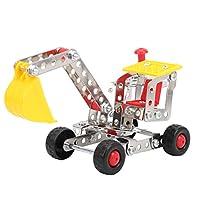 DIYビルディングブロック、エンジニアリングカーモデル、環境保護金属エンジニアリングカー玩具、男の子男の子と女の子の子供向けギフトに耐久性(865)