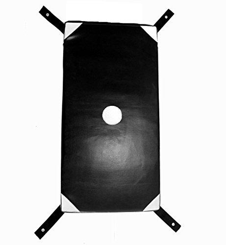 BAY Wall Catcher Wandschlagpolster 68 x 34 cm Gross schwarz weiß Modell 2017 Leder PU Sport Makiwara aus Kunstleder Wand Wandmontage Schlagpolster Schlagkissen, Sandsack, Boxsack,