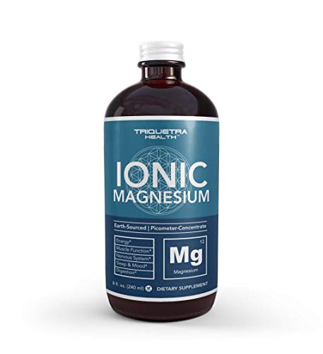 Ionic Liquid Magnesium - Highest Absorption, Same Form Found in Vegetables | 96 Servings, Glass Bottle, Picometer Size, Magnesium Chloride Form, Ionically Charged (8 oz.)