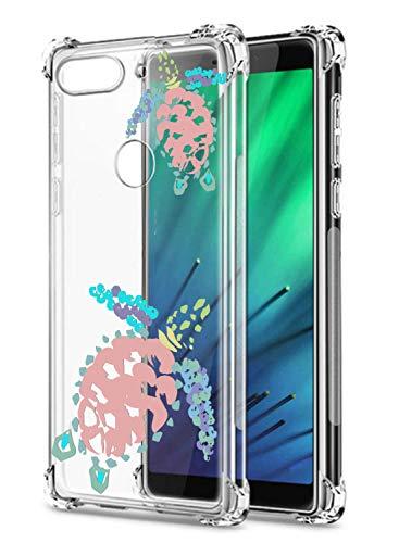 Suhctup Compatible pour Motorola Moto G5 Coque Silicone Transparent avec Clear Motif Mignon Animal Design Étui Housse Coussin d'Air Souple Doux TPU Anti-Choc Protection Cover,Tortue de mer 6