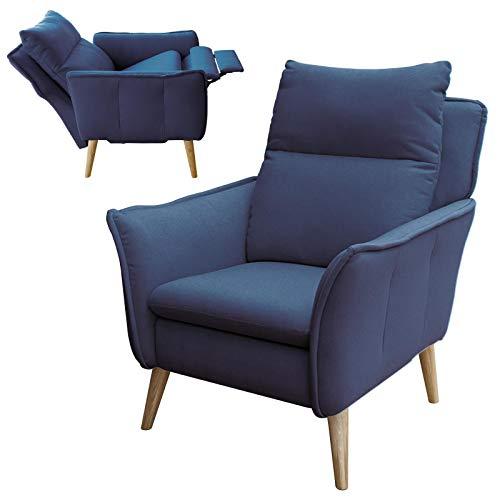 place to be. Relaxsessel mit Liege-Funktion in Premiumqualität im skandinavischem Stil (Salbei Zwei, Eiche massiv)