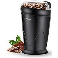 aigostar breath 30cfr - macina caffè elettrica a doppio contatto con lame in acciaio inossidabile, macina chicchi di caffè, spezie, frutta a guscio e grano capacità di 60g, 150 watt, bpa free, nero.