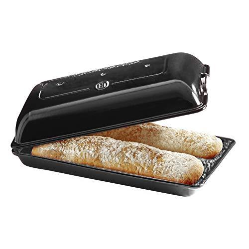 Emile Henry EH799502 Moule à pain Ciabatta, céramique, noir Fusain