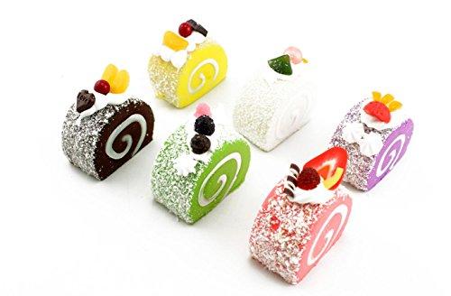naissant 食品 サンプル 詰め合わせ お菓子 おかし ケーキ ドーナツ 果物 多種 セット ロールケーキシュガー 6個セット