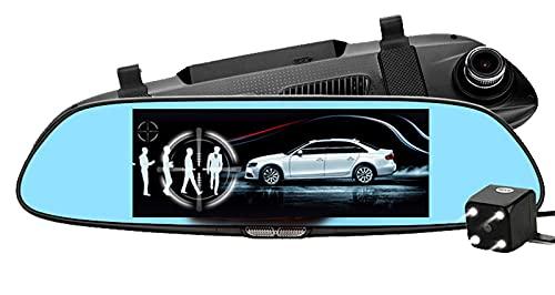 QQ HAO 7 Pulgadas De Grabadora De CA HD, Pantalla IPS 1080P, Lente Dual, 140 ° De Ancho Y Cámara Trasera Impermeable, Grabación De Bucle