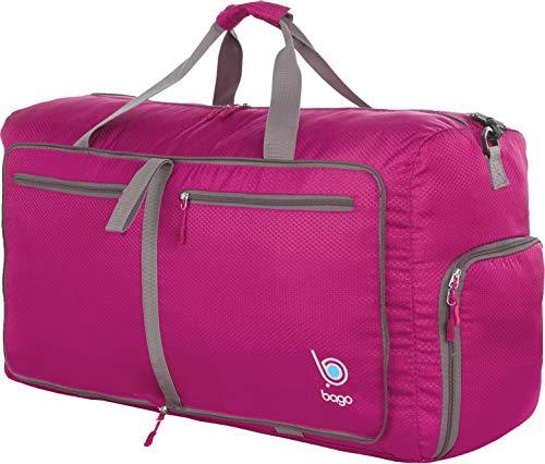 Bago Borsone Per Viaggio Bagaglio Palestra Sport Campeggio - Leggero e Pieghevole in se stessa. Borsone (Taglia Media 22'', Rosa)