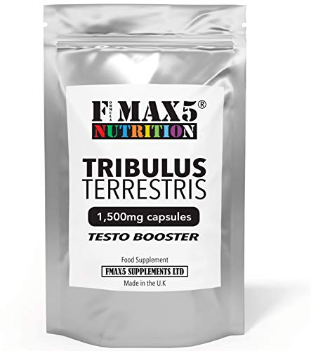 Extreme Testosterone Booster Tribulus Terrestris 1500mg High Strength 95% Saponins - 120 Capsules - UK Manufactured Lab - Testosterone Supplement for Men - Increase Test Levels