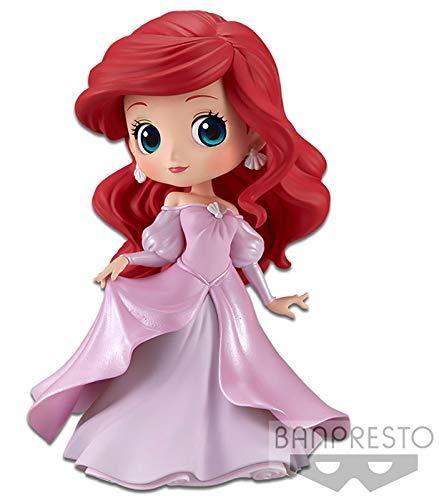 Disney - Figurine Q Posket Ariel Robe De Princesse Rose 14cm