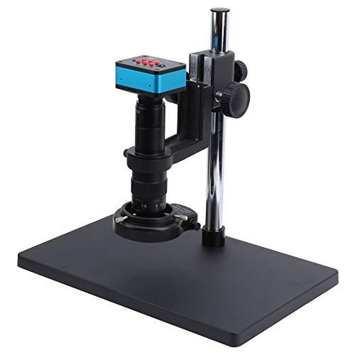 Cámara industrial C-Mount 100-240VAC Cámara de microscopio electrónico digital 4K Juego de soportes grandes(EU plug)