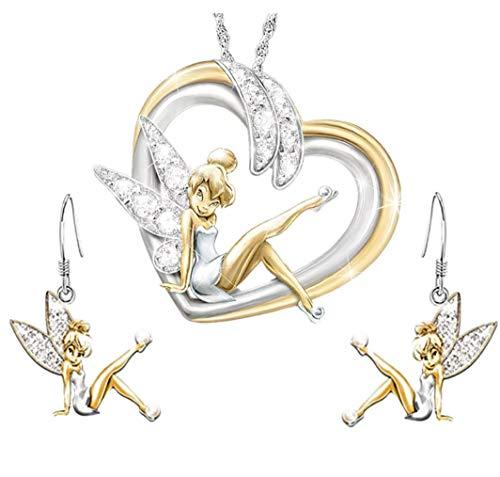 Feen & Wunder Halskette Fee Glöckchen Ohrringe Fee Tinkerbell Set Fee Figur Fee Figur Fee Figur Fee Figur Fee