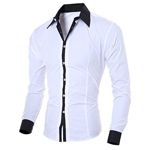 Writtian Hemd Herren Slim Fit bügelfrei Langarm Button Down Hemd Männer T-Shirt Casual Style für für Anzug Krawatte Business Hochzeit