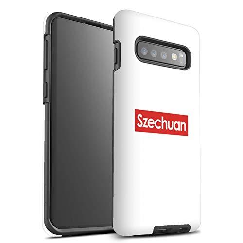 eSwish Gloss Tough Shock Proof Telefoonhoesje voor Samsung Galaxy S10 Plus/Szechuan Saus Design/Grappige Cartoon Alien TV Collection
