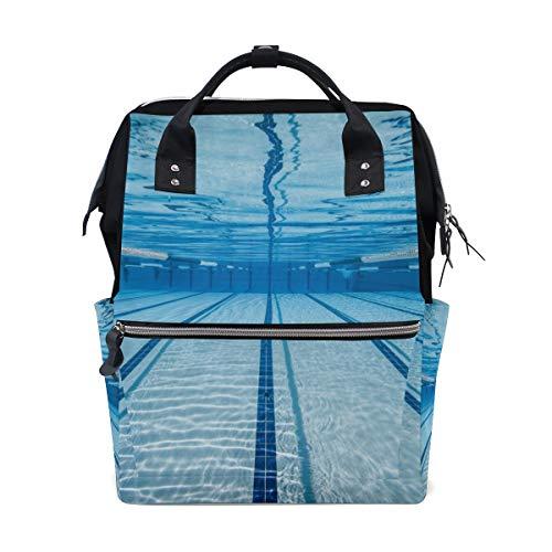 Blauer Sommer kühler Swimmingpool unter Wasser große Kapazität Windel Taschen Mummy Rucksack Multi Funktionen Windel Pflege Tasche Tote Handtasche für Kinder Babypflege Reise tägliche Frauen