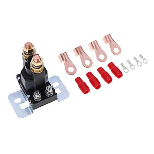 CENPEN 4 Pin 12V / 24V del Amplificador de relé 500A de Coches de Arranque de Encendido/Apagado de energía Dual Isolater batería con terminales Conectores Amarillo Nut - 12V