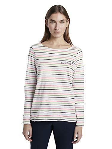 TOM TAILOR U-Boot T-Shirt, Damen, Weiß XL