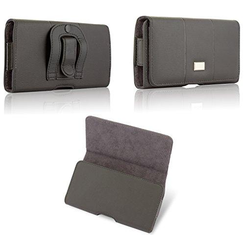 BRALEXX Elegante Quertasche Gürteltasche Handy Hülle Etui Hülle Clip Belt Schutz Bag für Samsung Galaxy Xcover 4 G390, SCHWARZ