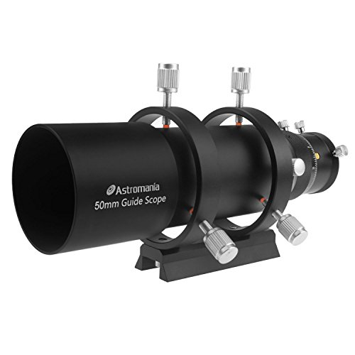 """Astromania 50mm Compact Deluxe Finder & Guidescope Kit with 1.25"""" Double Helical Focuser - Guiding with The Mini-Guide Scope: So Astrophotography is Easier and Less Equipment"""
