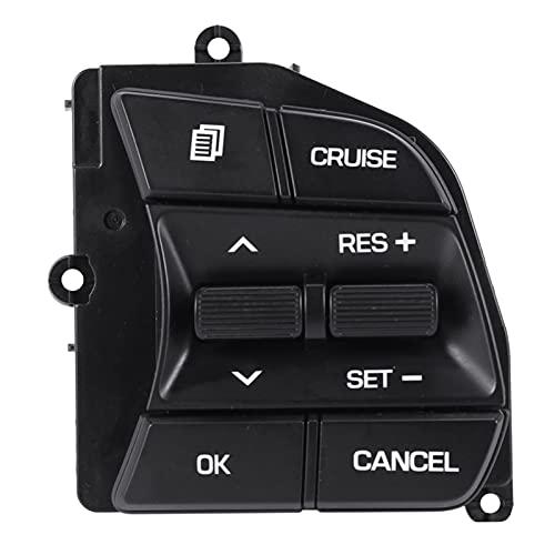 BRIGHTSUN XXshop Coche Derecho Lado Volante Control de Crucero Interruptor de botón Ajuste para Hyundai Sonata 9 LF (Color : Black)