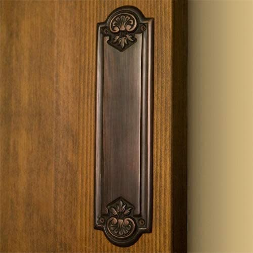 2021 Signature Hardware outlet online sale 275493 Colonial Brass Push high quality Plate online sale