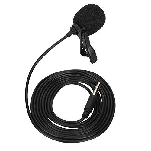 Changor Micrófono, Universal Grabación Micrófono Portátil Universal Compatibilidad Hecho de Abdominales Micrófono Configuración por Móvil Teléfono Ordenador