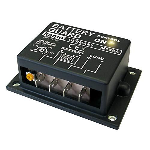 Kemo M148A Batteriewächter 12 V/DC. Schützen von Autobatterien vor Tiefentladung. Automatisches Einschalten nach Wiederkehr normaler Spannung. Abschaltspannung einstellbar ca. 10,4 - 13,3 V