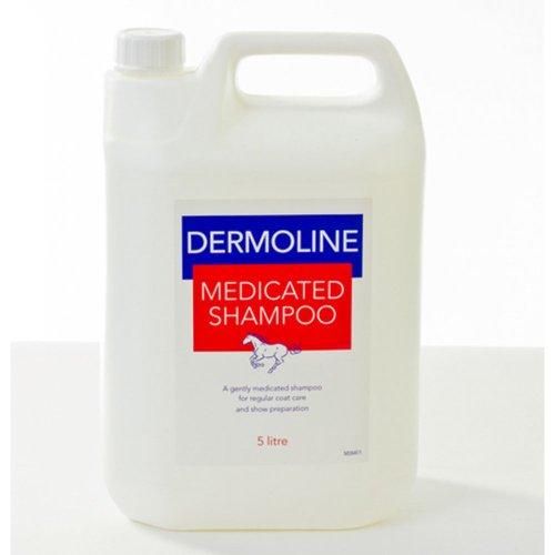 Dermoline Medicated Shampoo Voor Paarden (kies uit de maten 500ml of 5 liter)- antibacteriële shampoo met toegevoegde coat conditioner.