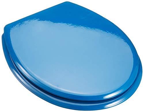 MSV 140015, Siège de bain avec charnières en acier inoxydable, Bleu Marine